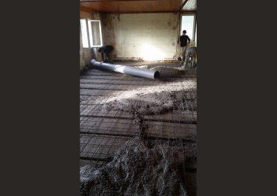 25 coulage de la dalle beton